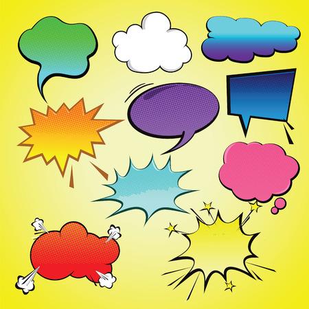Comic speech bubble element vector Ilustração