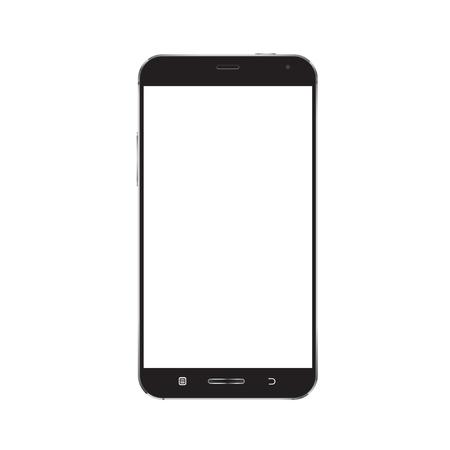 Smartphone mockup with blank screen vector Ilustração