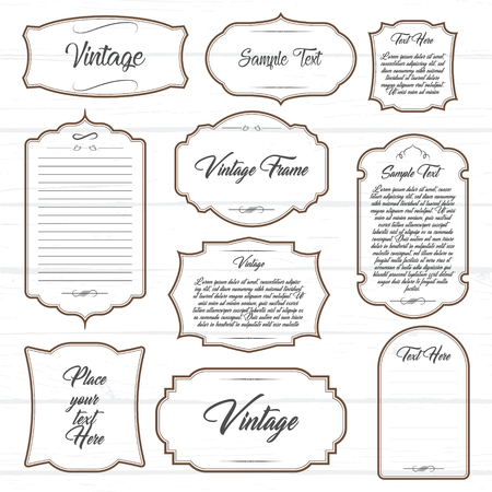 Frames set with text vector