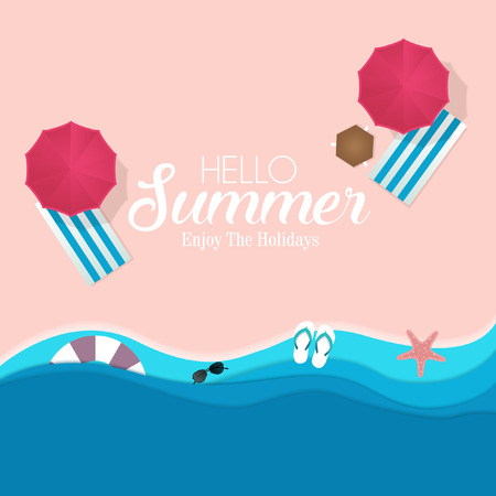 Paper template background for summer holiday