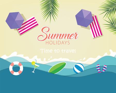 Summer background template vector