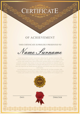 Certificate vintage classic Çizim