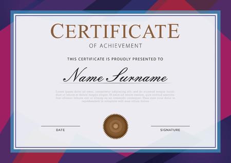 certificate template abstract Ilustração