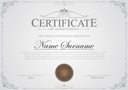 Certificate vintage template
