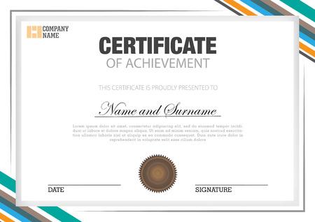 certificate with combination color Ilustração