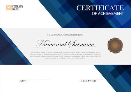 Certificate template elegant design Çizim