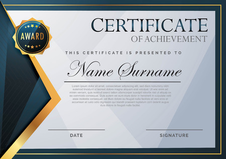 certificate with abstract element