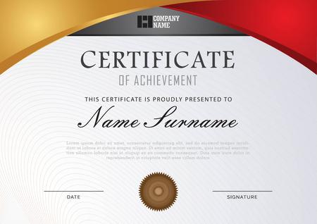 certificate template gold