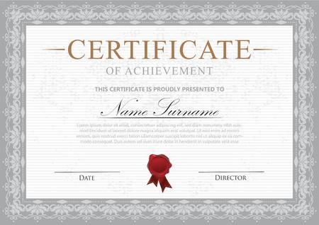 certificate with decoration Çizim