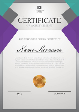 Certificate template with border Çizim