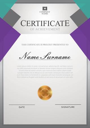 Certificate template with border Ilustração