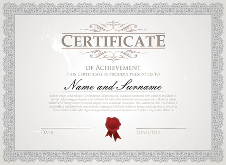 Certificate with traditional border Ilustrace