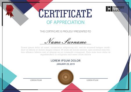 Certificate template simple model Ilustração