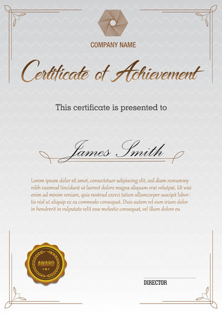 Certificate vintage with decoration