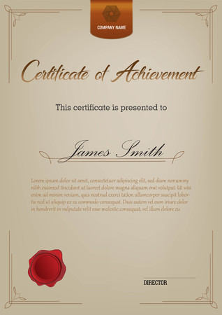 Certificate template with decoration