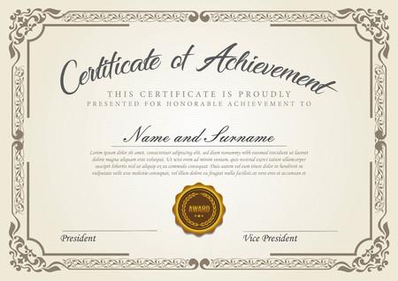 certificate vintage model