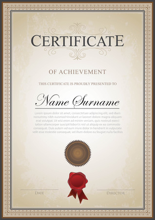 Certificate vintage classic Imagens - 117565152