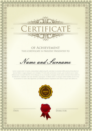 Certificate template classic Çizim