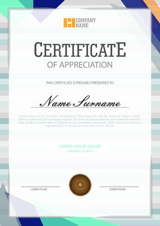 Certificate template modern design Ilustração