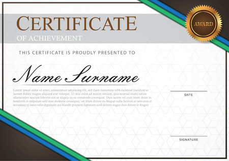 Certificate modern style with gold element