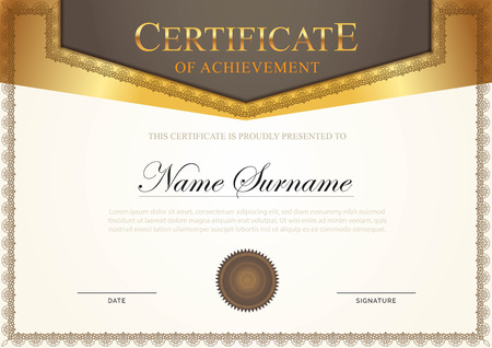 Certificate modern style with gold element Imagens - 117565165