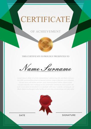 Certificate modern style