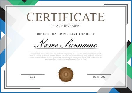 certificate white grey combination
