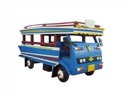 minibus: A minibus toys thailand on a white background. Stock Photo
