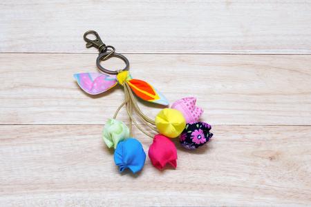 Handmade Keychain Tulip made from cotton.