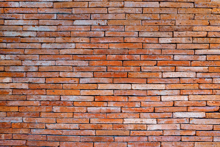 Brick wall background. Structures outside the building. Standard-Bild