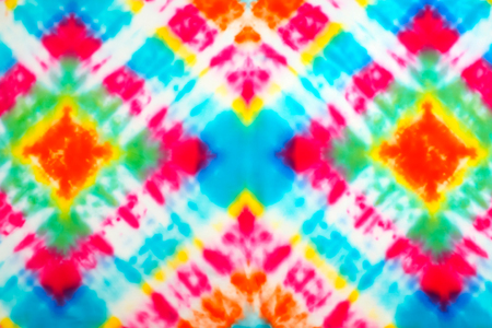Blur fabric Tie dye bright colors texture background.
