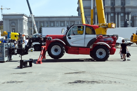 Exhibition specialized construction vehicles