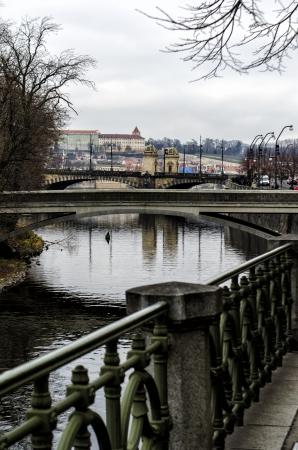 citytrip: view of Prague and the Vltava river