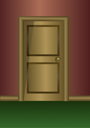Wooden door 向量圖像