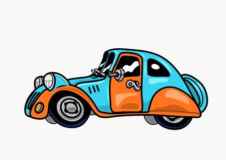 Vintage car. Vector illustration