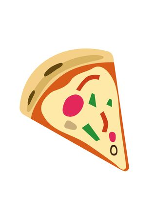 A minimalist isolated pizza piece vector illustration 向量圖像