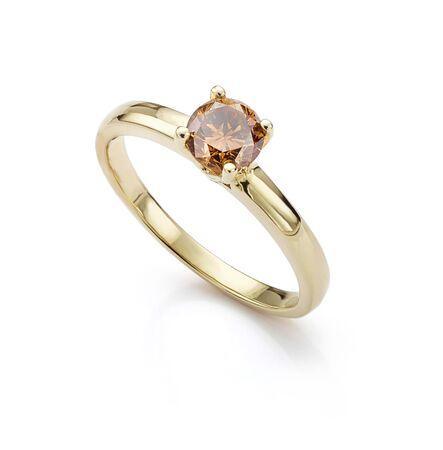 Chocolate Diamond Yellow Gold Ring