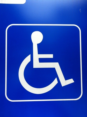 disable: Disable sign wheelchair sign Stock Photo