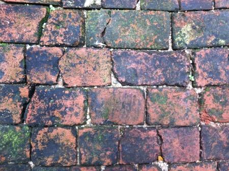 brick floor: Fondo del suelo de ladrillo Foto de archivo