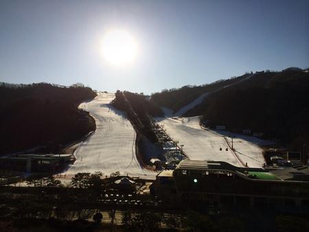 ski slopes: Piste di sci a Corea Archivio Fotografico