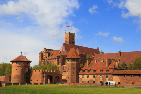 Malbork castle in Pomerania region of Poland. UNESCO World Heritage Site. Teutonic Knights' fortress also known as Marienburg. Stock Photo