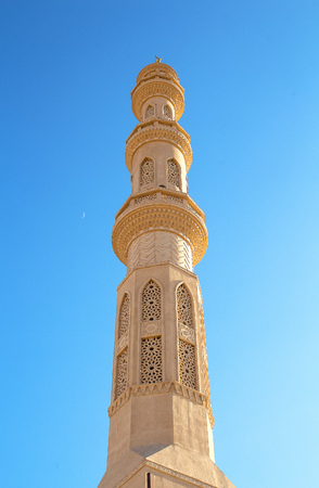 Beautiful architecture of El Mina Mosque in Hurghada, Egypt
