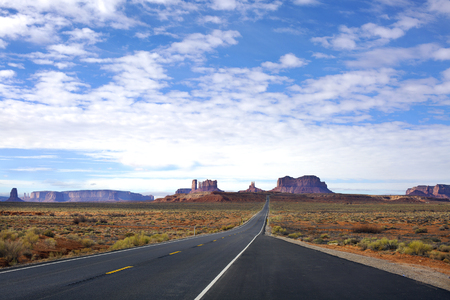 Panoramic view of Entrance to Monument Valley . Arizona, USA 免版税图像