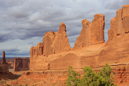 Beautiful Image taken at Arches National Park in Utah Stock Photo