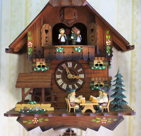 Cuckoo Clock From The Black Forest, Germany. Imagens