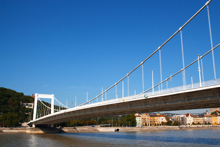 Bridge in Budapest in sunny summer day.