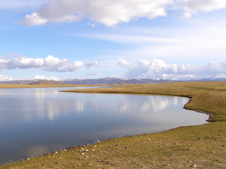 Mongolian natural landscapes surrounded by mountains and rocks.