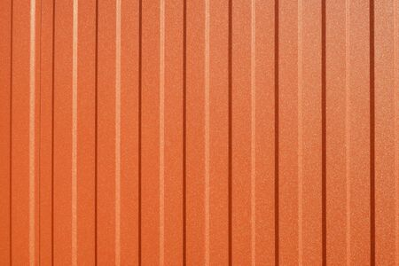Orange Corrugated metal or zinc texture surface in the vertical line background or texture 版權商用圖片 - 148159718