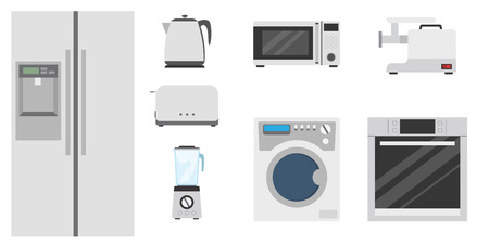 Kitchenware set flat Vector Illustration