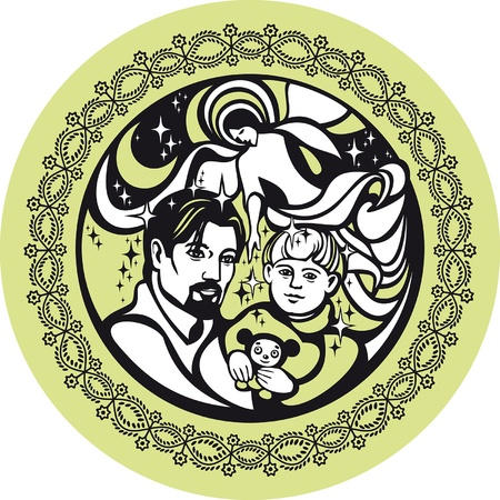 June. There are father, son and spirit. They symbolize Holy Trinity. Stock Vector - 12156998